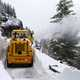 Snowplow in the winter at Glacier National Park