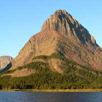 Sunrise at Mount Grinnell at Glacier National Park, Montana