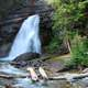 Waterfall Scenery at Glacier National Park, Montana