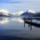Winter Fishing on Lake McDonald at Glacier National Park
