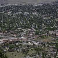 Birds-eye view of Helena
