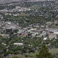 Closeup from above of Downtown Helena