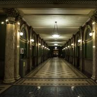 Halls and lighted corridors in the Capital Building in Helena
