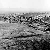 Landscape of Helena, Montana in 1870