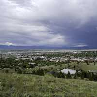 Looking at the city from Mount Helena, Montana