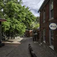 Shops and Alleyway or Reeder's Alley in Helena