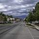 Sky, cars, and road in Helena, Montana
