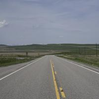 Country Road landscape in Montana