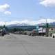 Downtown Libby with sky and clouds in Montana
