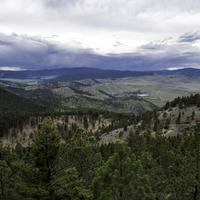 Hills and Mountainside Landscape from Mount Helena