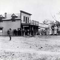 Miles City black and white in 1881 in Montana