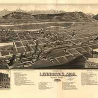Plat of Livingston, 1883 in Montana