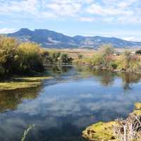 Scenic River and Landscape in Montana