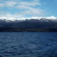 Snow-capped Mountains Beyond the Lake