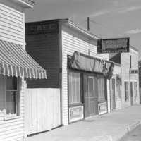 Street in Wolf Point, 1941 in Montana