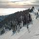 View from top of Big Mountain, near Whitefish, in winter in Montana