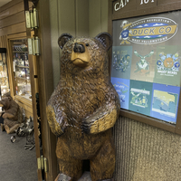 Happy Bear Statue in West Yellowstone
