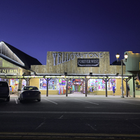 Shops at Night in West Yellowstone