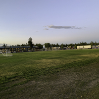 Soccer field landscape at West Yellowstone