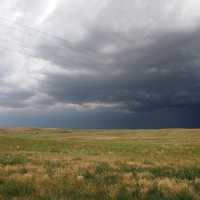 Dark Storm Clouds over the plains in Nebraska