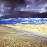Heavy Clouds moving over the Sand Dunes