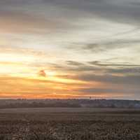 Sunrise in Nebraska landscape