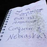 The guestbook at Panorama Point, Nebraska