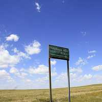 Sign for Panorama Point at Panorama Point, Nebraska