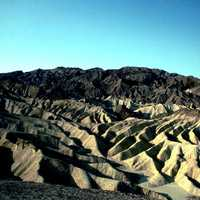 Gower Gulch landscape and badlands at Death Valley National Park, Nevada
