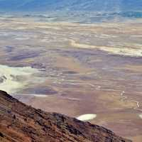 Overview of desert landscape at Death Valley National Park, Nevada