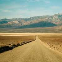 Roadway through the desert at Death Valley National Park, Nevada