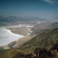 Salt Shoreline from Dante's view at Death Valley National Park, Nevada