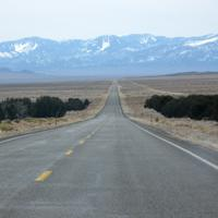 Route 50 in Great Basin National Park, Nevada