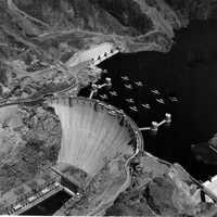 Aerial Photo of Hoover Dam Area and Lake Mead, Nevada