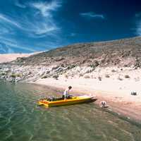 Canoeing on Lake Mead, Nevada