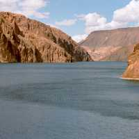 Curving lake Mead in Nevada