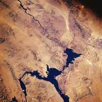 Lake Mead from Space in Nevada