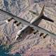 USAF flying over the Lake Mead area, Nevada