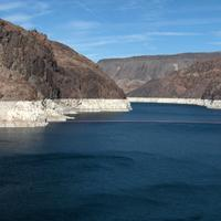 View of Lake Mead landscape in Nevada