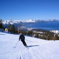Skiing Down the Slopes of Lake Tahoe