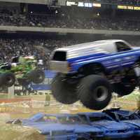 Monster Truck Show at racetrack in Las Vegas, Nevada