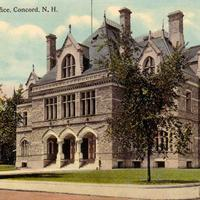 Old Post Office in 1910 in Concord, New Hampshire
