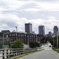 View of downtown from the north in Manchester, New Hampshire
