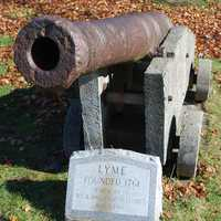 A small cannon in Lyme, New Hampshire