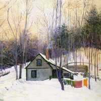 A Snowy Monday Painting, 1926, Hancock, New Hampshire