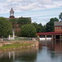 Belknap Mills in downtown Laconia in New Hampshire