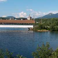 Covered bridge over the Upper Ammonoosuc River in Northumberland, New Hampshire