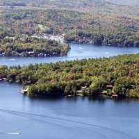 Lake landscape at Sunapee, New Hampshire