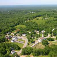 Rindge Center Overview of town in New Hampshire