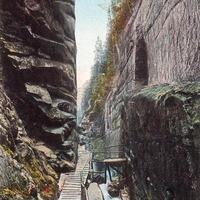 Scenic Cascades and waterfall in the flume in New Hampshire, 1915